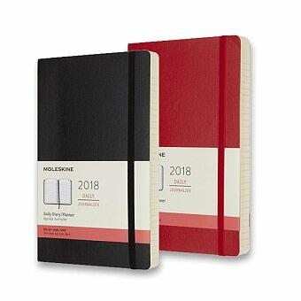 Obrázek produktu Diář Moleskine 2018 - měkké desky - L, denní, výběr barev