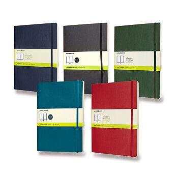 Obrázek produktu Zápisník Moleskine - měkké desky - XL, čistý, výběr barev