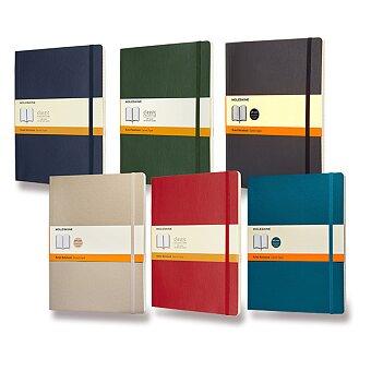 Obrázek produktu Zápisník Moleskine - měkké desky - XL, linkovaný, výběr barev