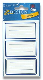 Obrázek produktu Samolepicí štítky na sešity - Modré rámečky