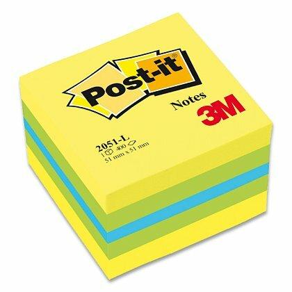 Obrázok produktu 3M Post-it 2051L - samolepiaca mini kocka - 51 × 51 mm, citrónová