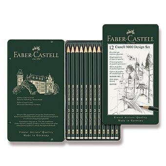 Obrázek produktu Grafitová tužka Faber-Castell Castell 9000 Design set - 12 ks, plechová krabička