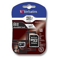 Paměťová karta Verbatim micro SDHC s adaptérem
