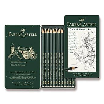 Obrázek produktu Grafitová tužka Faber-Castell Castell 9000 Art Set - 12 ks, plechová krabička