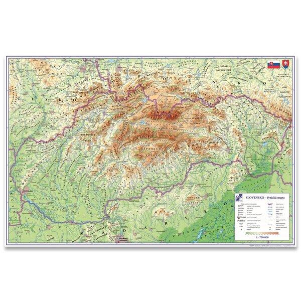 Podložka na stůl - Mapa Slovenské republiky 60 x 40 cm
