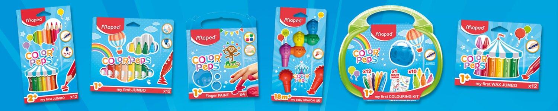 Maped nabízí řadu produktů určené pro nejmenší děti