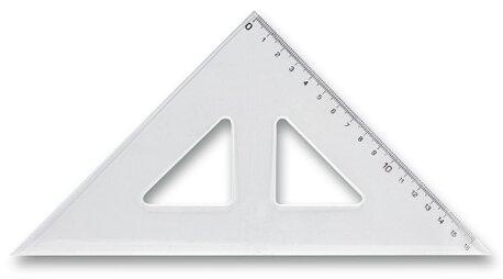 Obrázek produktu Trojúhelník s ryskou - 16 cm
