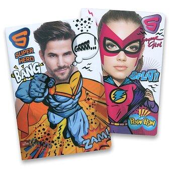 Obrázek produktu Školní sešit Superhero - A4, linkovaný, 40 listů, mix motivů