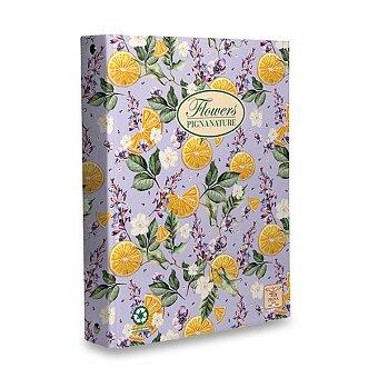 Obrázek produktu 4kroužkový pořadač Pigna Nature Flowers - A4, 35 mm, mix motivů