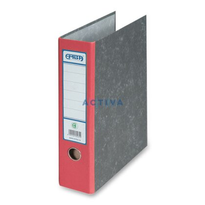 Obrázok produktu Emba - archívny šanón - A4, chrbát 75 mm, červený