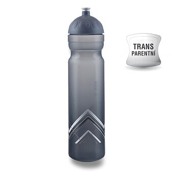 Obrázek produktu Zdravá lahev BIKE 1,0 l - Hory, šedá