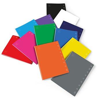 Obrázek produktu Školní sešit Pigna Monocromo - A4, linkovaný, 40 listů, mix barev