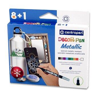 Obrázek produktu Popisovač Centropen Decor Pen Metallic 2737 - sada metalické barvy 8 + 1