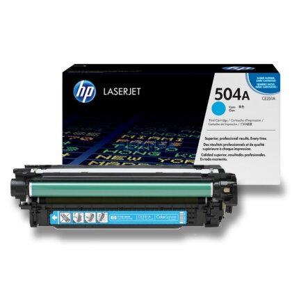 Obrázek produktu HP - toner CE251A, cyan (modrý) č. 504A pro laserové barevné tiskárny