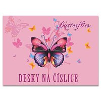 Desky na číslice Motýl