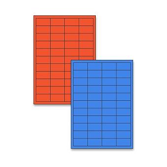 Obrázek produktu Barevné samolepicí etikety Rayfilm Color - 48,5 x 25,4 mm, 4400 etiket, výběr barev