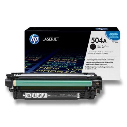 Obrázek produktu HP - toner CE250A, black (černý) č. 504A pro laserové barevné tiskárny