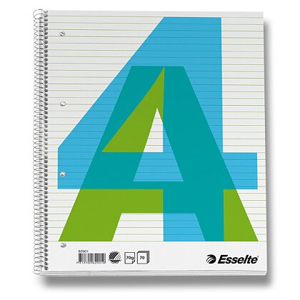 Obrázek produktu Esselte - kroužkový blok - A4, 70 l., linkovaný