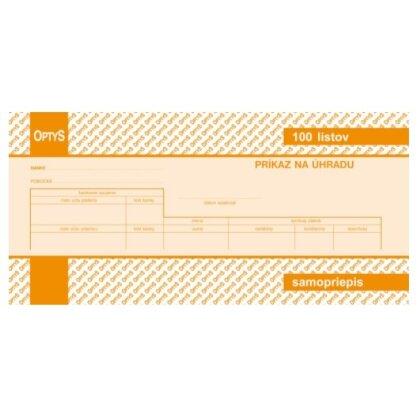 Obrázok produktu Príkaz na úhradu - formát 1/3 A4, NCR, 100 listov