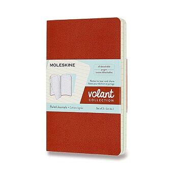 Obrázek produktu Sešity Moleskine Volant - měkké desky - S, linkované, 2 ks, oranžová/modrá