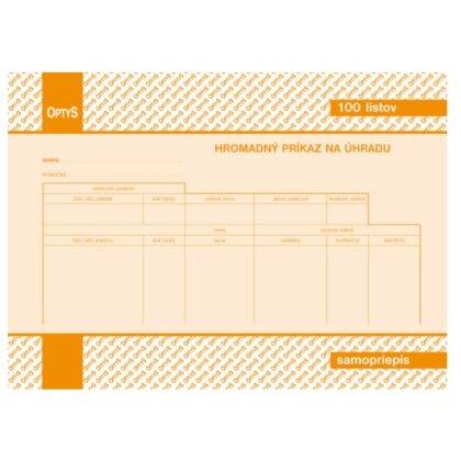 Obrázok produktu Príkaz na úhradu - hromadný - NCR, 100 listov, formát A5