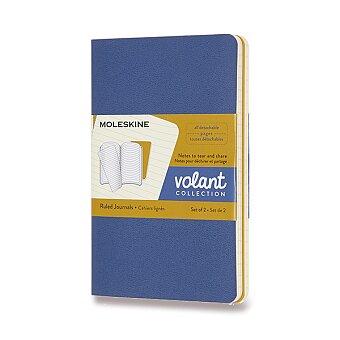 Obrázek produktu Sešity Moleskine Volant - měkké desky - S, linkované, 2 ks, modrá/žlutá
