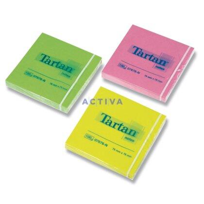 Obrázek produktu Tartan Neon - samolepicí bločky - 76×76 mm, 6×100 l.