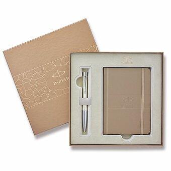 Obrázek produktu Dárková kazeta Parker s hnědým zápisníkem 2015