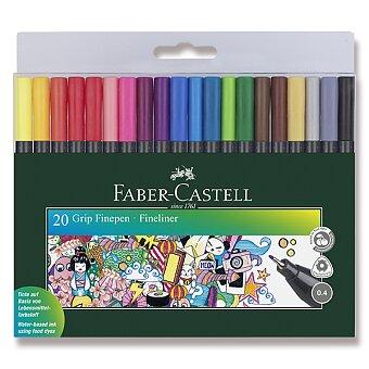 Obrázek produktu Popisovač Faber-Castell Grip - 20 ks, 0.4 mm