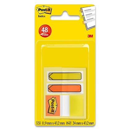 Obrázek produktu 3M Post-it -  záložky v zásobníku - mix šipek a záložek, 3 x 16 l.