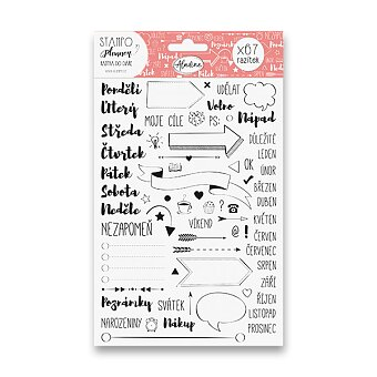 Obrázek produktu Stampo Planner Aladine - razítka do diáře - 67 ks