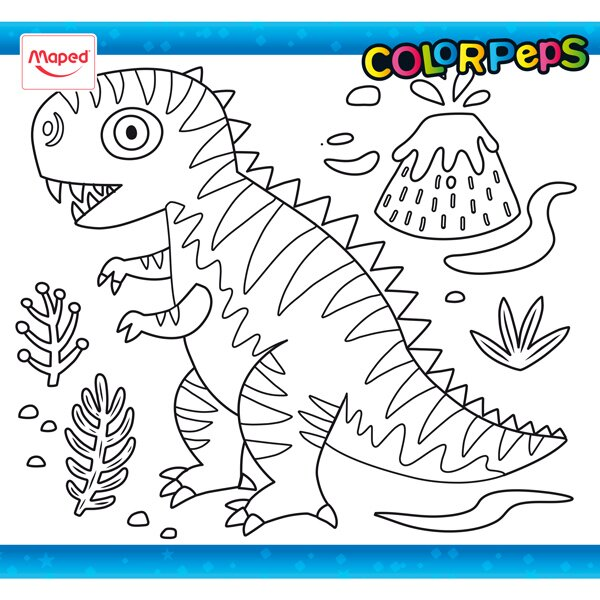 Omalovánky ColorPeps dinosaurus