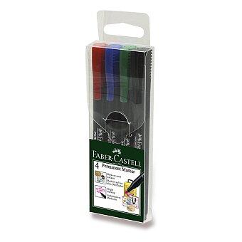 Obrázek produktu Popisovač Faber-Castell Slim Permanent Marker - 4 ks