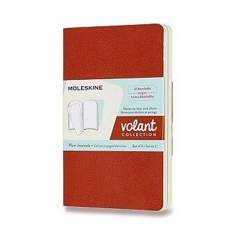 Obrázek produktu Sešity Moleskine Volant - měkké desky - S, čisté, 2 ks, oranžová/modrá