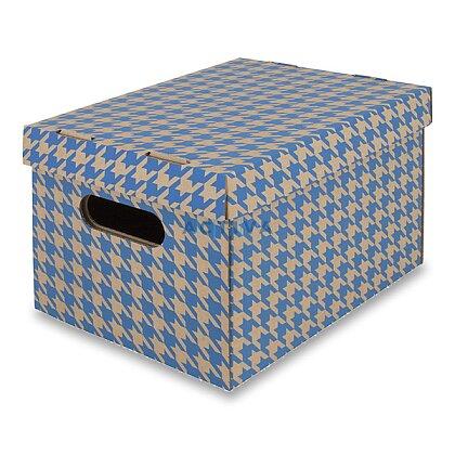 Obrázek produktu EMBA - úložná krabice - modrá, A4