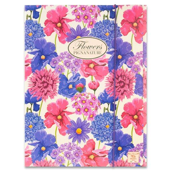 3chlopňové desky Pigna Nature Flowers A4, mix motivů