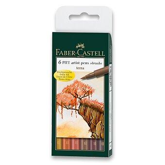 Obrázek produktu Popisovač Faber-Castell Pitt Artist Pen Brush - 6 ks, odstíny země