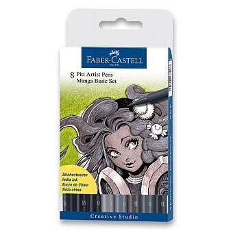 Obrázek produktu Popisovač Faber-Castell Pitt Artist Pen Manga - 8 kusů, Manga Basic