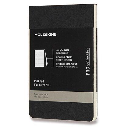 Obrázek produktu Moleskine Professional - poznámkový blok - S, linkovaný, černý