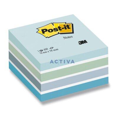 Obrázok produktu 3M Post-it - samolepiaci bloček - 76×76 mm, 450 l., Aquarelle Blue