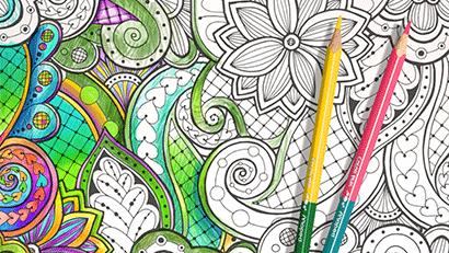 Květinové omalovánky ColorPeps