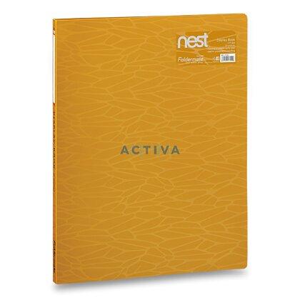 Obrázek produktu Foldermate NEST - katalogová kniha  - A4, zlatožlutá