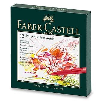 Obrázek produktu Popisovač Faber-Castell Pitt Artist Pen Brush - studio box, 12 ks