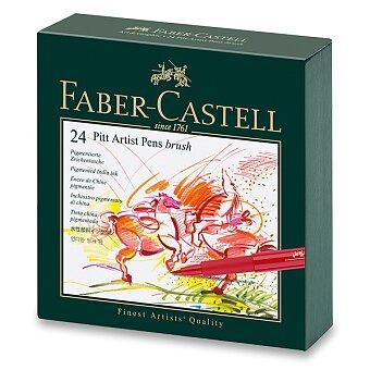 Obrázek produktu Popisovač Faber-Castell Pitt Artist Pen Brush - studio box, 24 ks