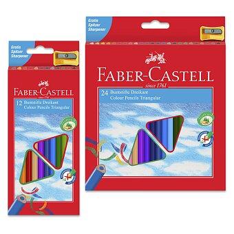 Obrázek produktu Trojhranné pastelky Faber-Castell - včetně ořezávátka, 12 nebo 24 barev