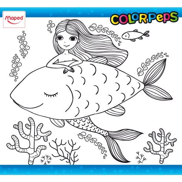 Omalovánky ColorPeps mořská panna