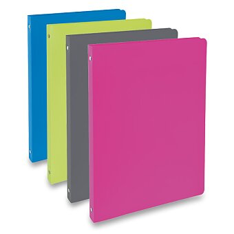 Obrázek produktu 4-kroužkový pořadač PP Karton - plast, A4, 20 mm, výběr barev