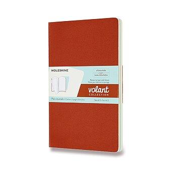 Obrázek produktu Sešity Moleskine Volant - měkké desky - L, čisté, 2 ks, oranžová/modrá