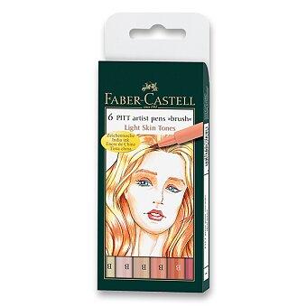 Obrázek produktu Popisovač Faber-Castell Pitt Artist Pen Brush - 6 ks, odstíny pleti