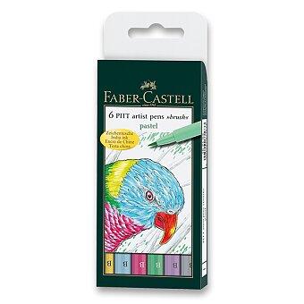 Obrázek produktu Popisovač Faber-Castell Pitt Artist Pen Brush - 6 ks, pastelové barvy